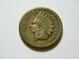1861 VG   COPPER NICKEL  INDIAN HEAD CENT  NICE  LOW PRICED  VINTAGE CN COIN