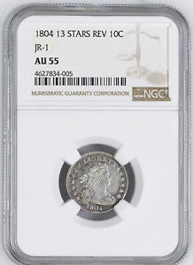 Click now to see the BUY IT NOW Price! 1804 DRAPED BUST 10C NGC AU 55