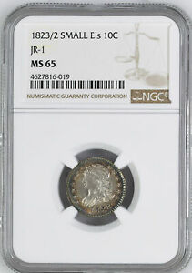 Click now to see the BUY IT NOW Price! 1823 CAPPED BUST 10C NGC MS 65