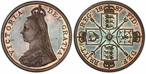 Click now to see the BUY IT NOW Price! GREAT BRITAIN VICTORIA 1887 AR DOUBLE FLORIN. PCGS PR64 CAMEO ARABIC 1; S 3923