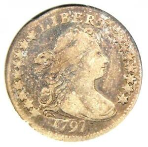 1797 DRAPED BUST DIME 10C COIN 16 STARS JR 1   CERTIFIED ANACS F15    DATE