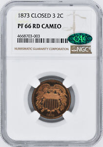 Click now to see the BUY IT NOW Price! 1873 2C NGC PR 66 CAM