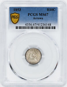 Click now to see the BUY IT NOW Price! 1853 LIBERTY SEATED H10C PCGS MS 67