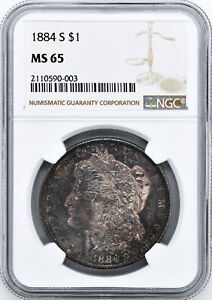 Click now to see the BUY IT NOW Price! 1884 S MORGAN S$1 NGC MS 65