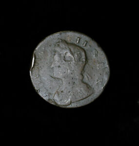 1735 GREAT BRITAIN / COLONIAL USA HALF 1/2 PENNY GEORGE II