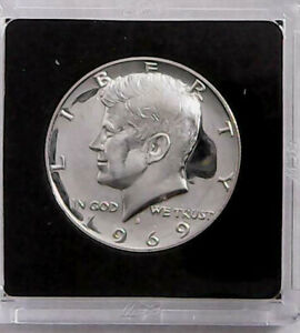 1969 S KENNEDY SILVER HALF DOLLAR PROOF DEEP CAMEO PRESERVED IN BCW CAPSULE