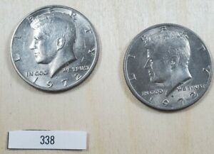 LOT OF TWO 1972 D KENNEDY HALF DOLLAR LOT338