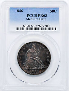 Click now to see the BUY IT NOW Price! 1846 LIBERTY SEATED 50C PCGS PR 63