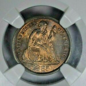 Click now to see the BUY IT NOW Price! 1885 S 10C NGC MS65