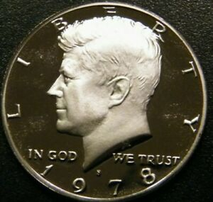 1978 S KENNEDY HALF DOLLAR GEM CAMEO PROOF US COIN FROM US PROOF MINT SET