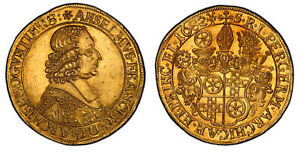 Click now to see the BUY IT NOW Price! GERMAN ST. MAINZ ANSELM FRANZ. 1682 MF AV 5 DUCATS 1/2 PORTUGALOSER. PCGS MS63