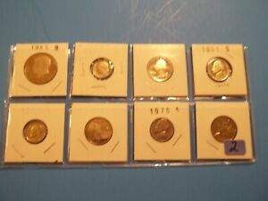 LOT OF 8 VARIOUS PROOF COINS  GREAT STARTER FOR BEGINNERS/CHILDREN      8PC2