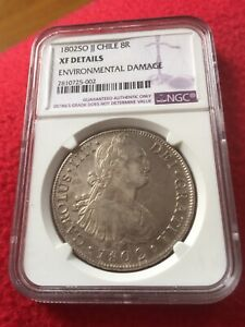 Click now to see the BUY IT NOW Price! CHILE 1802 8 REALES COLONIAL XF  NGC CERTIFICATION