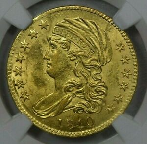 1810 SMALL DATE $5 NGC MS62 EX BASS