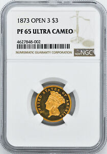 Click now to see the BUY IT NOW Price! 1873 INDIAN PRINCESS $3 NGC PR 65 DCAM