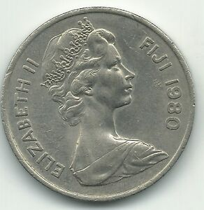 HIGH GRADE UNC 1980 FIJI 20 TWO CENTS COIN JAN243