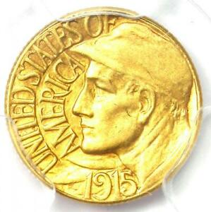 1915 S PANAMA PACIFIC GOLD DOLLAR G$1 COIN   CERTIFIED PCGS AU58