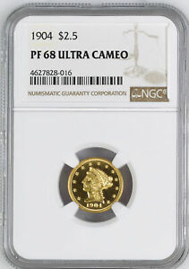 Click now to see the BUY IT NOW Price! 1904 LIBERTY HEAD $2.5 NGC PR 68 DCAM