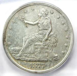 1877 S TRADE SILVER DOLLAR T$1 COIN   CERTIFIED ICG AU58 DETAILS    COIN