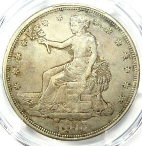 1875 CC TRADE SILVER DOLLAR T$1   PCGS XF DETAILS  EF     CARSON CITY COIN