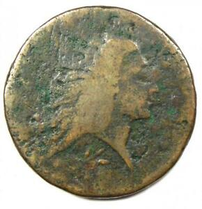 1793 FLOWING HAIR WREATH LARGE CENT 1C   GOOD DETAILS    COIN