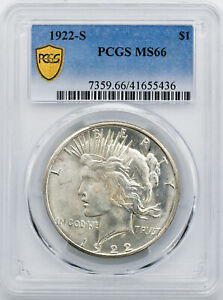 Click now to see the BUY IT NOW Price! 1922 S PEACE $1 PCGS MS 66