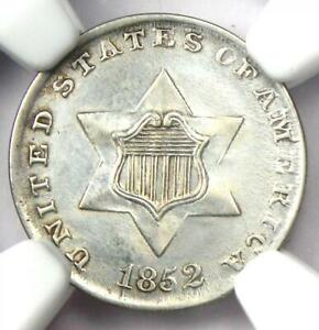 1852 THREE CENT SILVER COIN 3CS   CERTIFIED NGC UNC DETAILS  MS     COIN