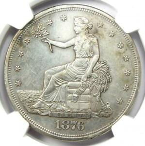 1876 S TRADE SILVER DOLLAR T$1   CERTIFIED NGC AU DETAILS    COIN