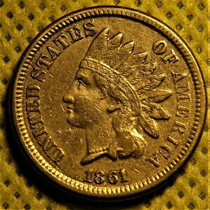 1861 INDIAN HEAD CENT WITH SHARP LIBERTY  NICE SEMI KEY DATE