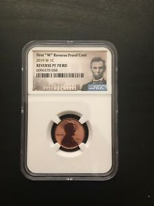 2019 W 1C REVERSE PROOF LINCOLN CENT NGC PF70 RD WEST POINT   FIRST