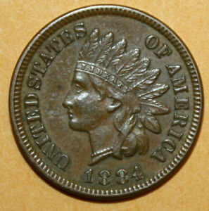 1884 INDIAN HEAD PENNY CENT
