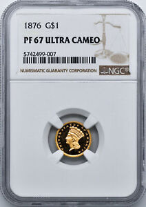 Click now to see the BUY IT NOW Price! 1876 GOLD G$1 NGC PR 67 DCAM