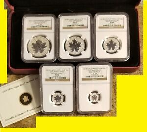 Click now to see the BUY IT NOW Price! 2013 1.9 OZ SILVER CANADIAN MAPLE NGC PF 70 UC 25TH ANN 5 COIN SET MINT BOX COA