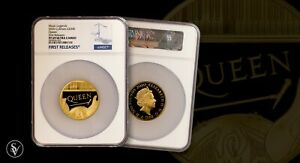 Click now to see the BUY IT NOW Price! 2020 MUSIC LEGENDS QUEEN 500 GOLD PROOF 5OZ COIN NGC PF69