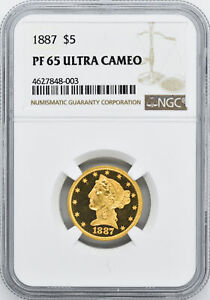 Click now to see the BUY IT NOW Price! 1887 LIBERTY $5 NGC PR 65 CAM
