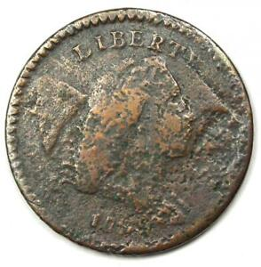 1794 LIBERTY CAP FLOWING HAIR HALF CENT 1/2C COIN   VG / FINE DETAIL  CORROSION