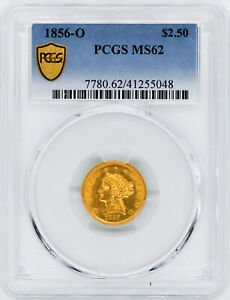 Click now to see the BUY IT NOW Price! 1856 O LIBERTY HEAD $2.5 PCGS MS 62