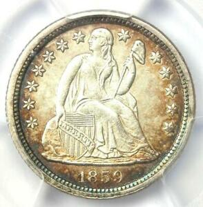 1859 O SEATED LIBERTY DIME 10C   PCGS UNCIRCULATED DETAILS  UNC MS     COIN