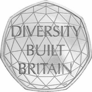 2020 DIVERSITY BUILT BRITAIN 50P COINS UK  FIFTY PENCE IN STOCK