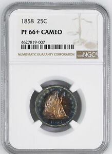 Click now to see the BUY IT NOW Price! 1858 LIBERTY SEATED 25C NGC PR 66  CAM