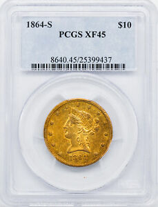 Click now to see the BUY IT NOW Price! 1864 S LIBERTY HEAD $10 PCGS XF 45