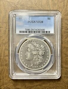 1878 CC MORGAN SILVER DOLLAR PCGS VF20 CLEAR LIBRARY/WINGS 143 YEARS OLD  ZNNI