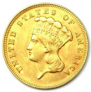 1878 INDIAN THREE DOLLAR GOLD COIN  $3    UNCIRCULATED DETAILS  UNC MS