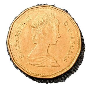 CANADIAN 1989 LOONIE ONE DOLLAR  $1  COIN   CIRCULATED
