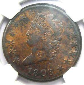 1808 CLASSIC LIBERTY HEAD LARGE CENT 1C   CERTIFIED NGC XF45  EF45     GRADE