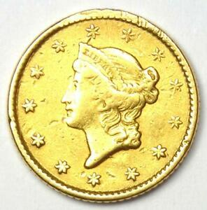 1853 LIBERTY GOLD DOLLAR G$1   AU DETAILS    EARLY COIN