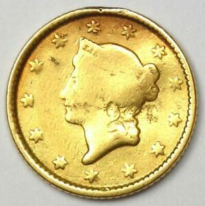 1853 LIBERTY GOLD DOLLAR G$1   FINE DETAILS    EARLY COIN