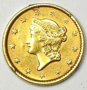 1853 LIBERTY GOLD DOLLAR G$1   AU DETAILS    EARLY GOLD COIN