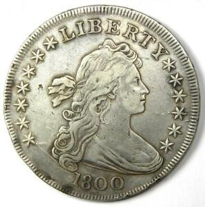 1800 DRAPED BUST SILVER DOLLAR $1 COIN   XF DETAILS  EF     COIN