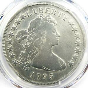 1795 DRAPED BUST SILVER DOLLAR $1 SMALL EAGLE COIN   CERTIFIED PCGS VG DETAILS